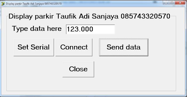Display tarif parkir / belanja / toll / dengan dot matrix dengan delphi 7 085743320570 (taufik adi)