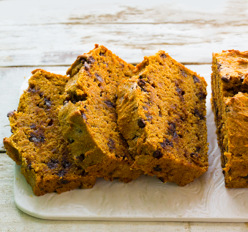 Chocolate Chip Pumpkin Loaf