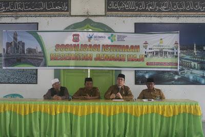 Kakankemenag Tanjungbalai Jadi Narasumber Sosialisasi Istithaah Kesehatan Jemaah Haji
