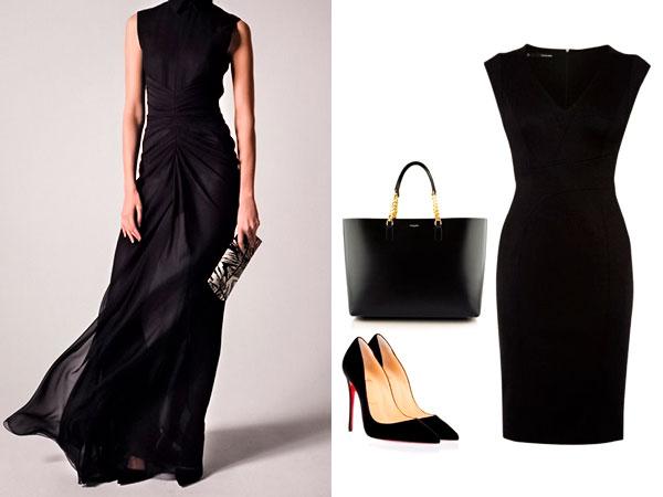 черное платье и сумки
