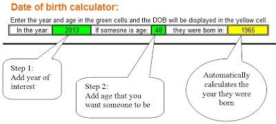 Date of birth calculator online