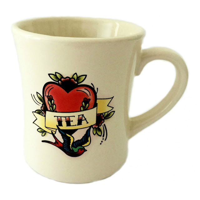 Stag and Raven tattoo tea mug