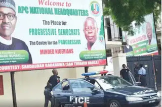 Police occupy All Progressives Congress's office as Victor  Giadom  battles over NEC