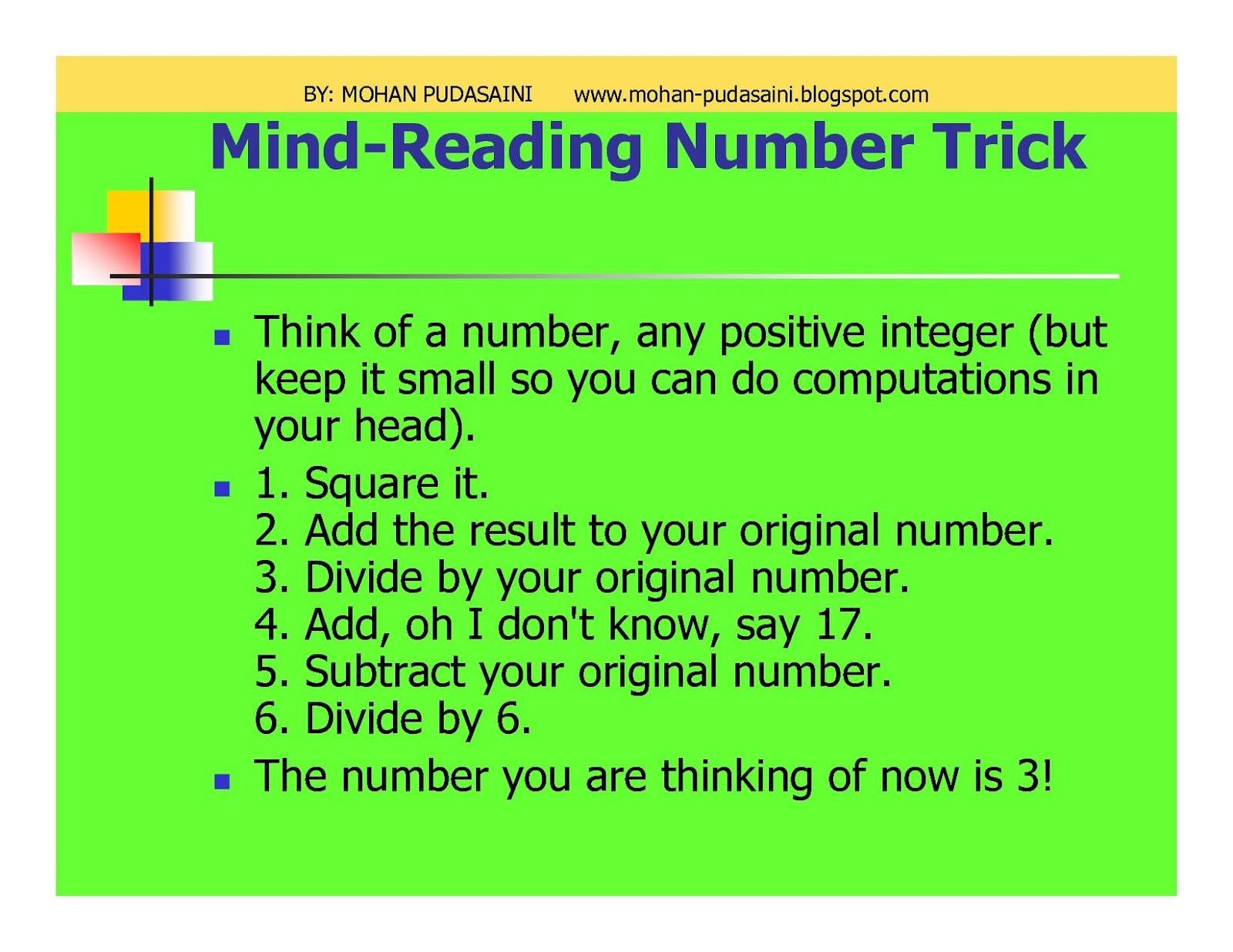 Mathe Tricks