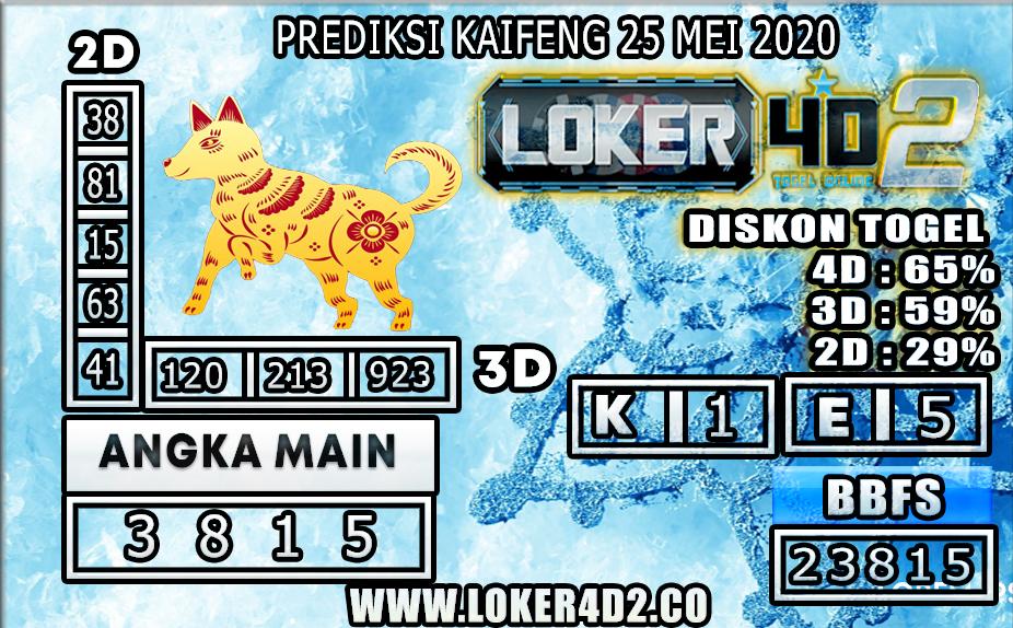 PREDIKSI TOGEL KAIFENG LOKER4D2 25 MEI 2020