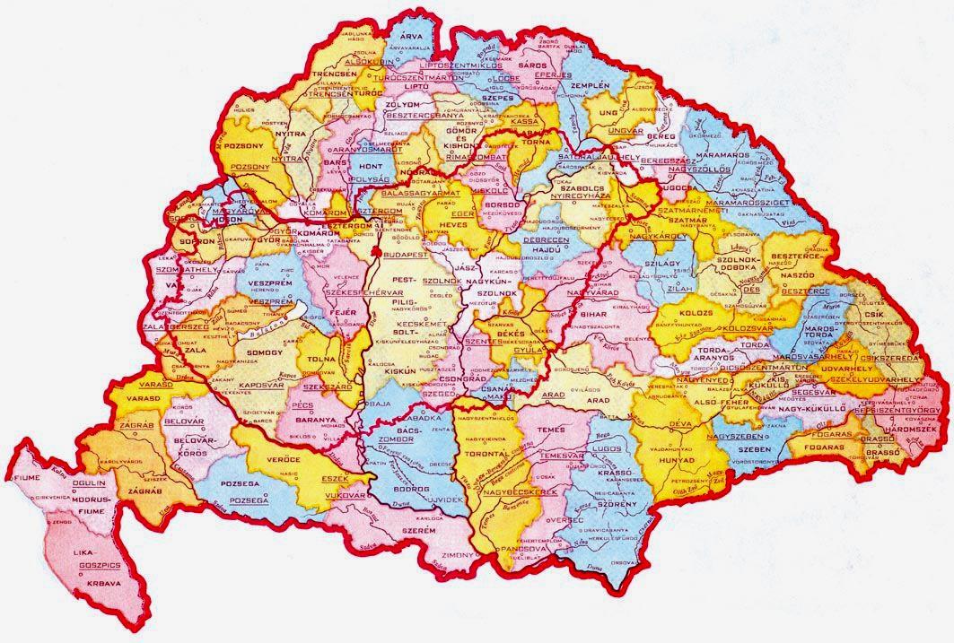 ausztria térkép megyékkel Online térképek: Nagy Magyarország térkép ausztria térkép megyékkel