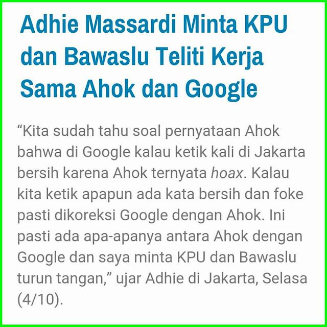 Ahok Dan Google ( Menggila!! )
