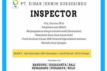 Lowongan Kerja Bandung Inspector PT. Sinar Jernih Suksesindo
