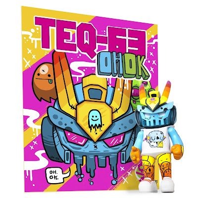 OH OK TEQ63 Artist Series Vinyl Figure by Nicky Davis x Quiccs x Martian Toys