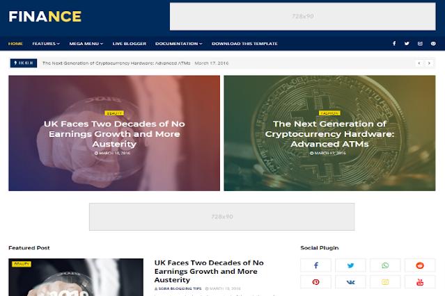 Finance Responsive Blogger Template