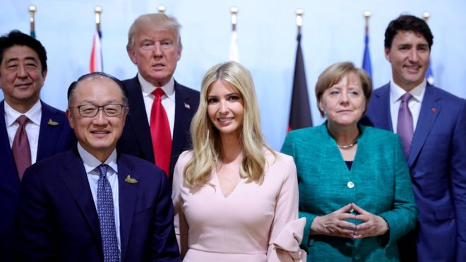 Trump spars with Chelsea Clinton over Ivanka's G20 seat