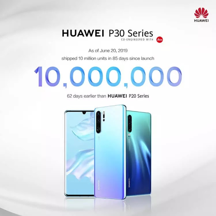 Huawei Remains Strong, P30 Series Shipped 10 Million Units in 85 Days