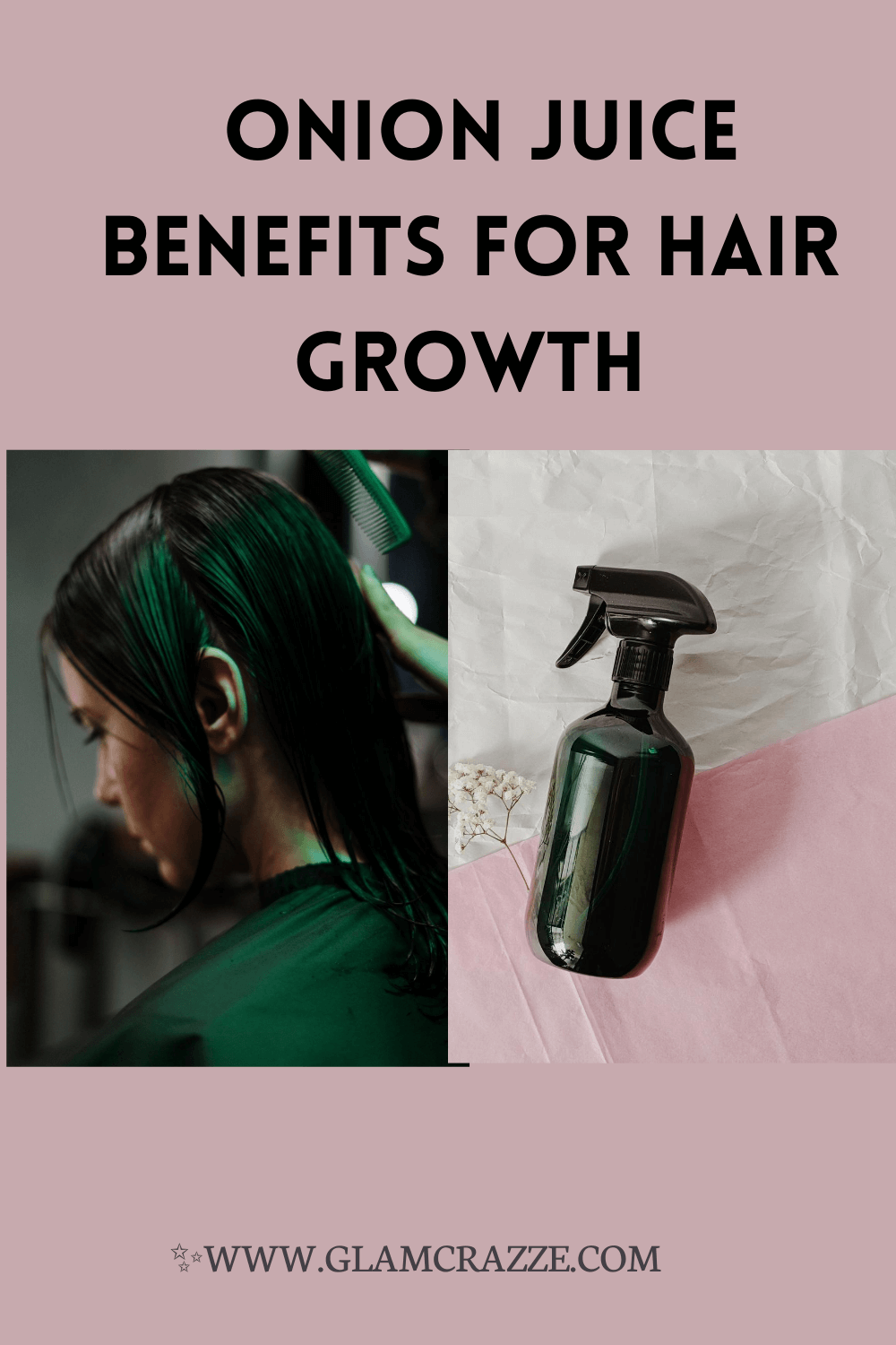 Application of onion juice to acquire benefits for hair growth