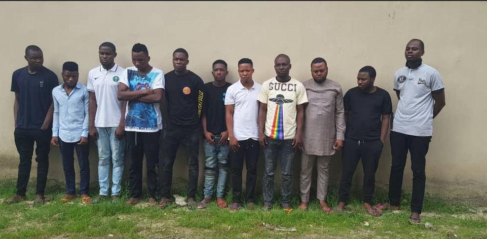 EFCC Apprehends 16 Suspected Internet Fraudsters In Lagos, Ogun (Photos) #Arewapublisize