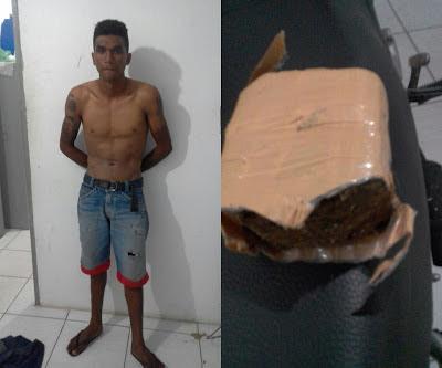 Em Santa Quitéria do Maranhão, homem é preso com grande quantidade de drogas e moto adulterada