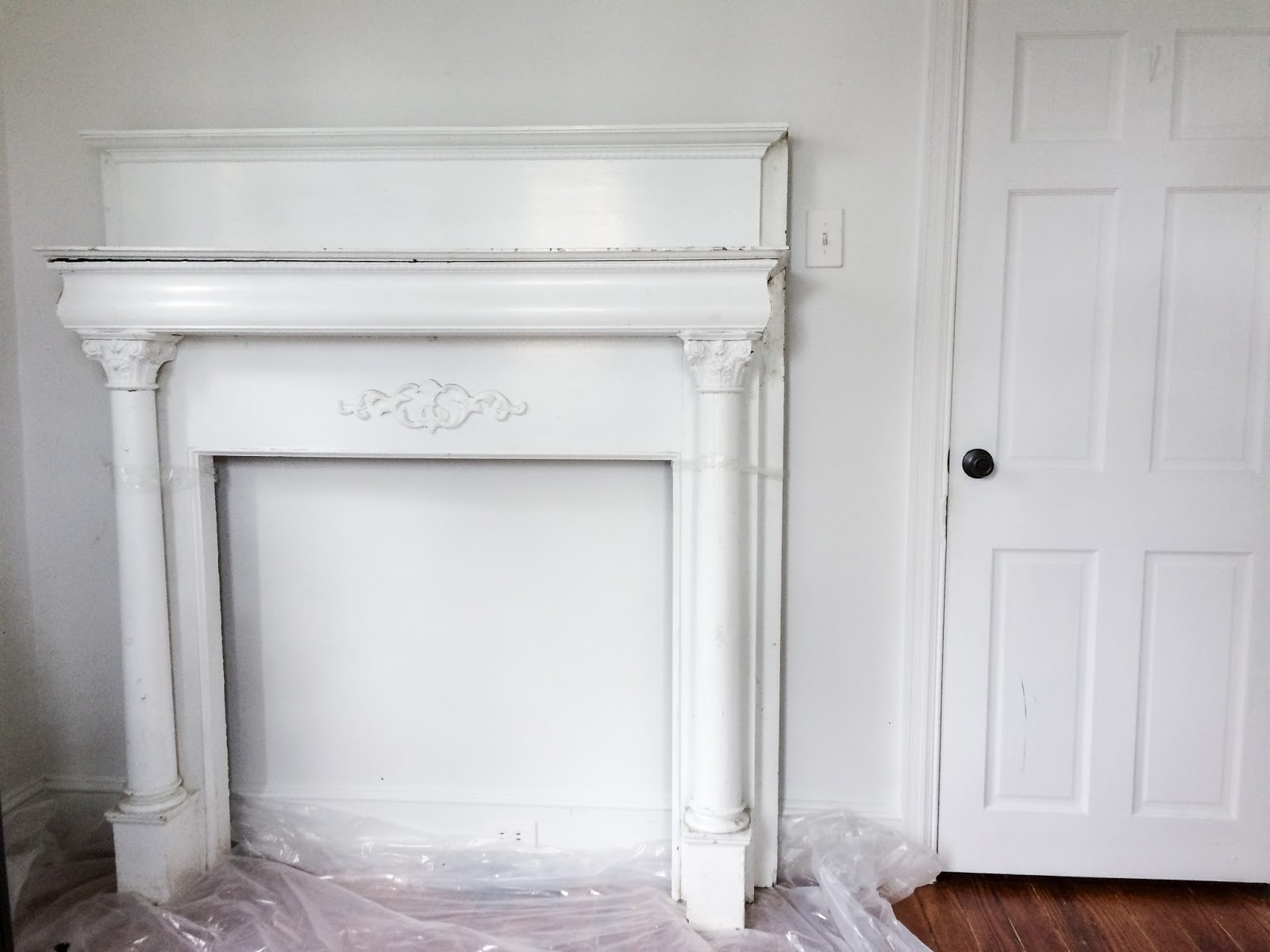 Historic Mantel Before Image
