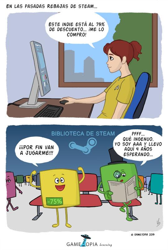 Humor de videojuegos steam