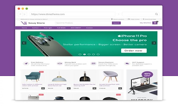 Souq Store Ecommerce Blogger Template Free Download