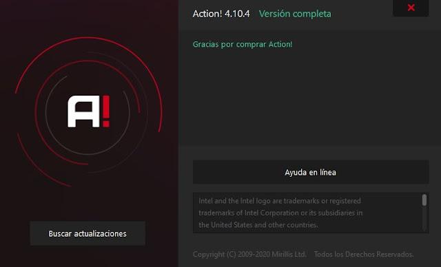 Mirillis Action Español Full Final Grabar Juegos en HD