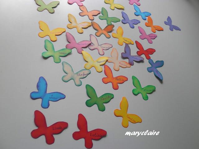 farfalle segnaposto handmade