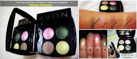 True Color Quarteto de Sombras Avon