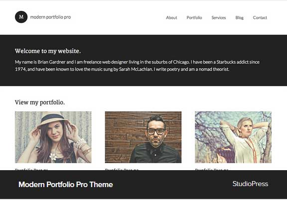 Modern Portfolio Pro Award Winning Pro Themes for Wordpress Blog : Theme Award Winning Blog
