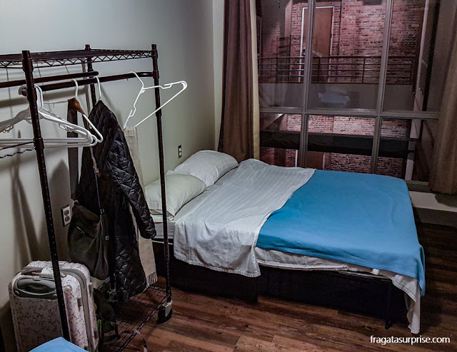 Quarto individual do Nashville Downtown Hostel