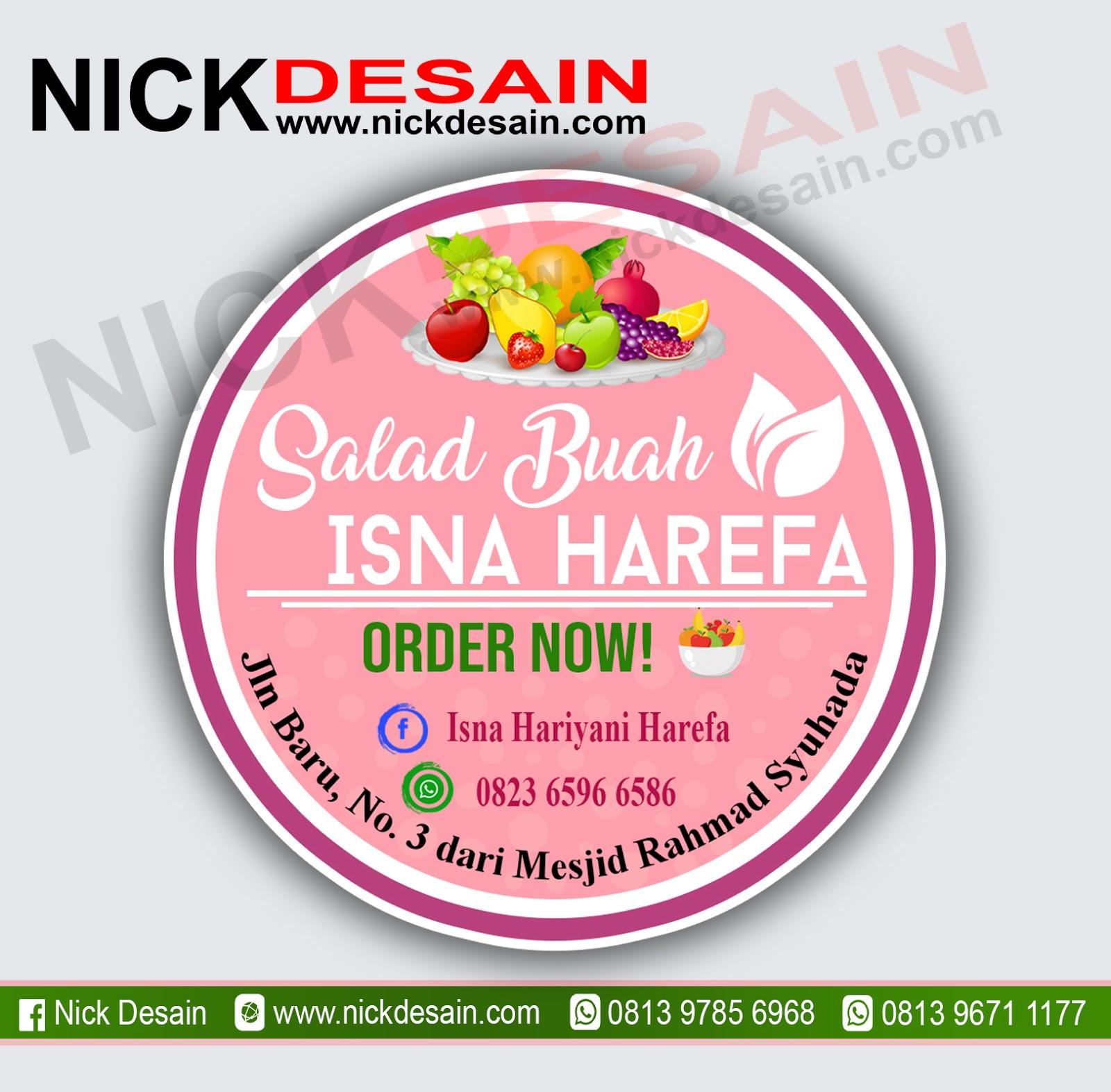 Contoh Desain Logo Olshop Pink Muda Dan Cetak Stiker Label