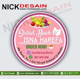 Contoh Desain Logo Olshop Pink Muda dan Cetak Stiker Label - Percetakan Tanjungbalai