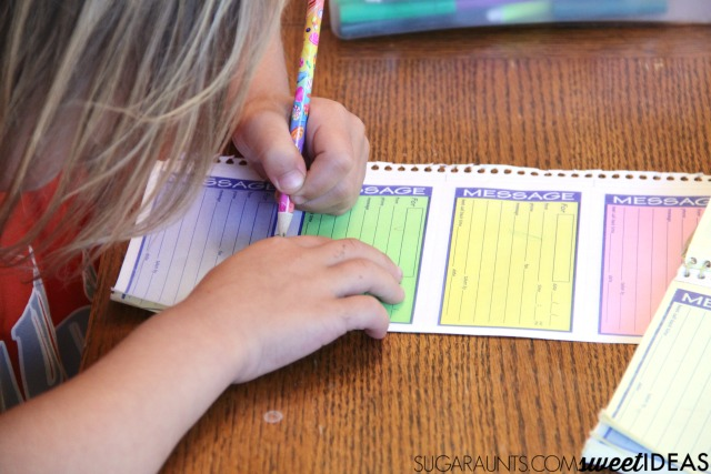 Use transfer paper to work on letter formation, size awareness, line awareness, and pencil pressure in handwriting with this easy writing trick that will help kids write with neater and legible handwriting.
