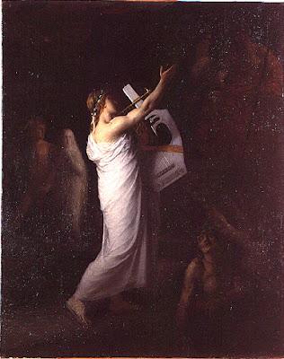 Orphée représente l'amour qui chante le deuil