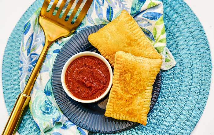 Air Fryer Pizza Pockets Recipe With Puff Pastry