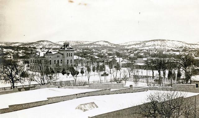 Kerrville Texas 1923 after a snowfall