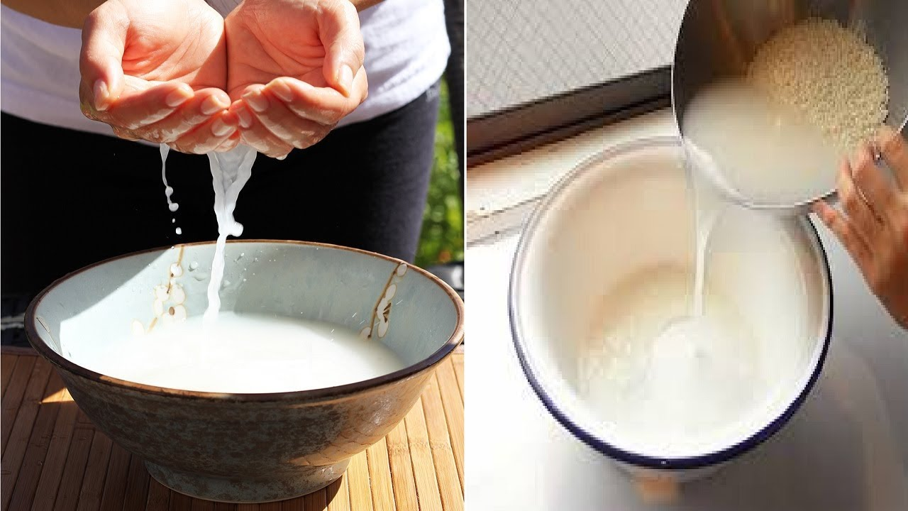 Nước vo gạo chứa hàm lượng lớn Vitamin B1, giúp tẩy tế bào chết và làm trắng da