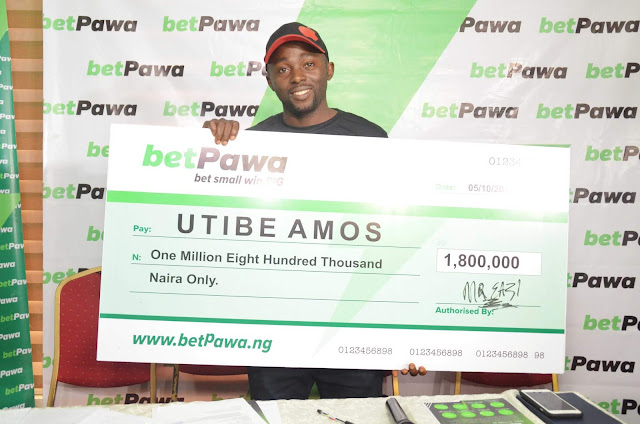 BetPawa & Mr. Eazi award Nigerian Big winner who bet N100 and N1.8million