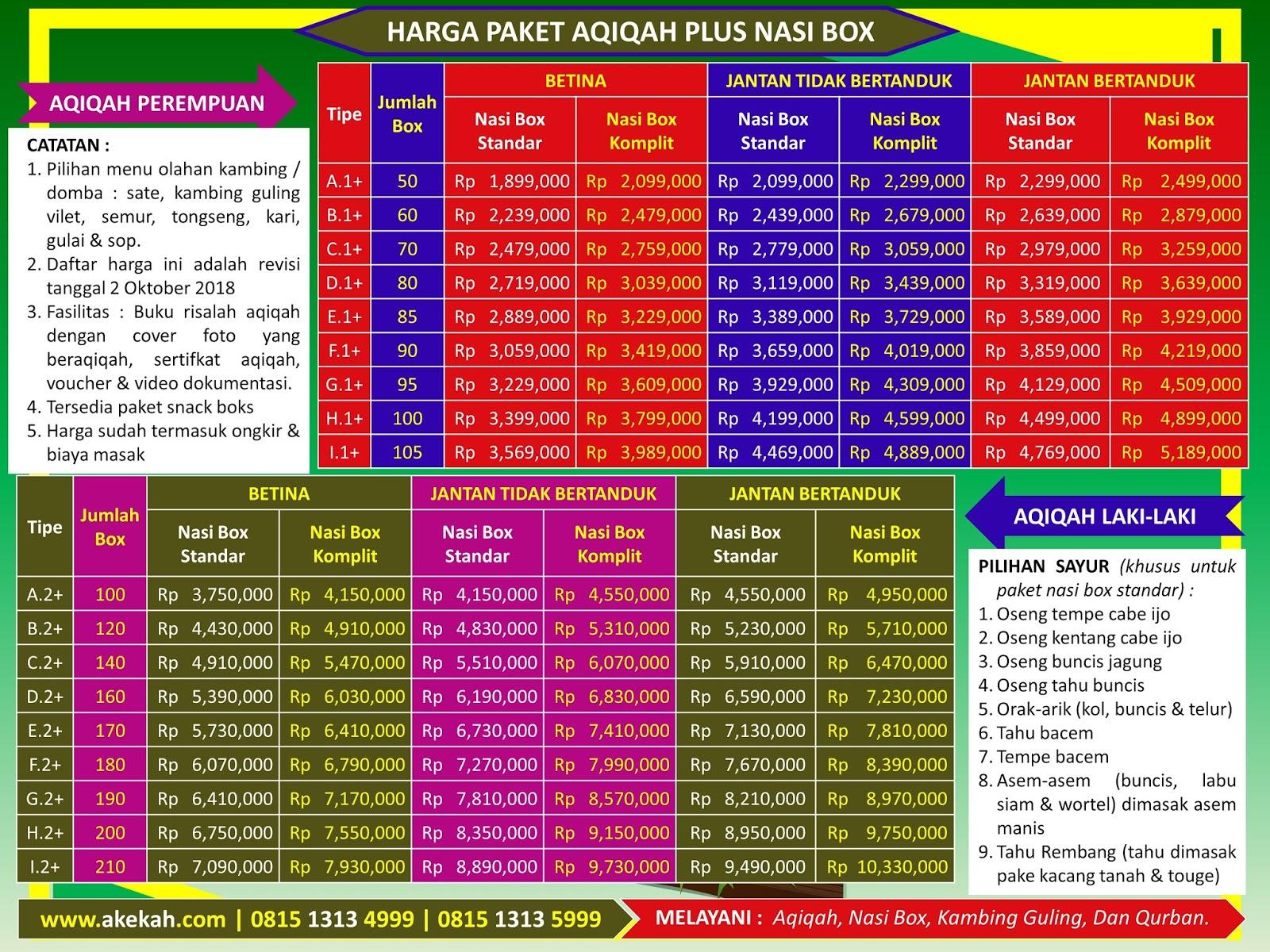 Harga Kambing Akikah Dan Catering Plus Untuk Laki-Laki Wilayah Kecamatan Cariu Bogor