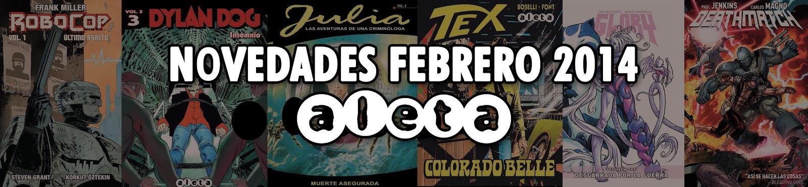 Aleta Ediciones novedades febrero 2014