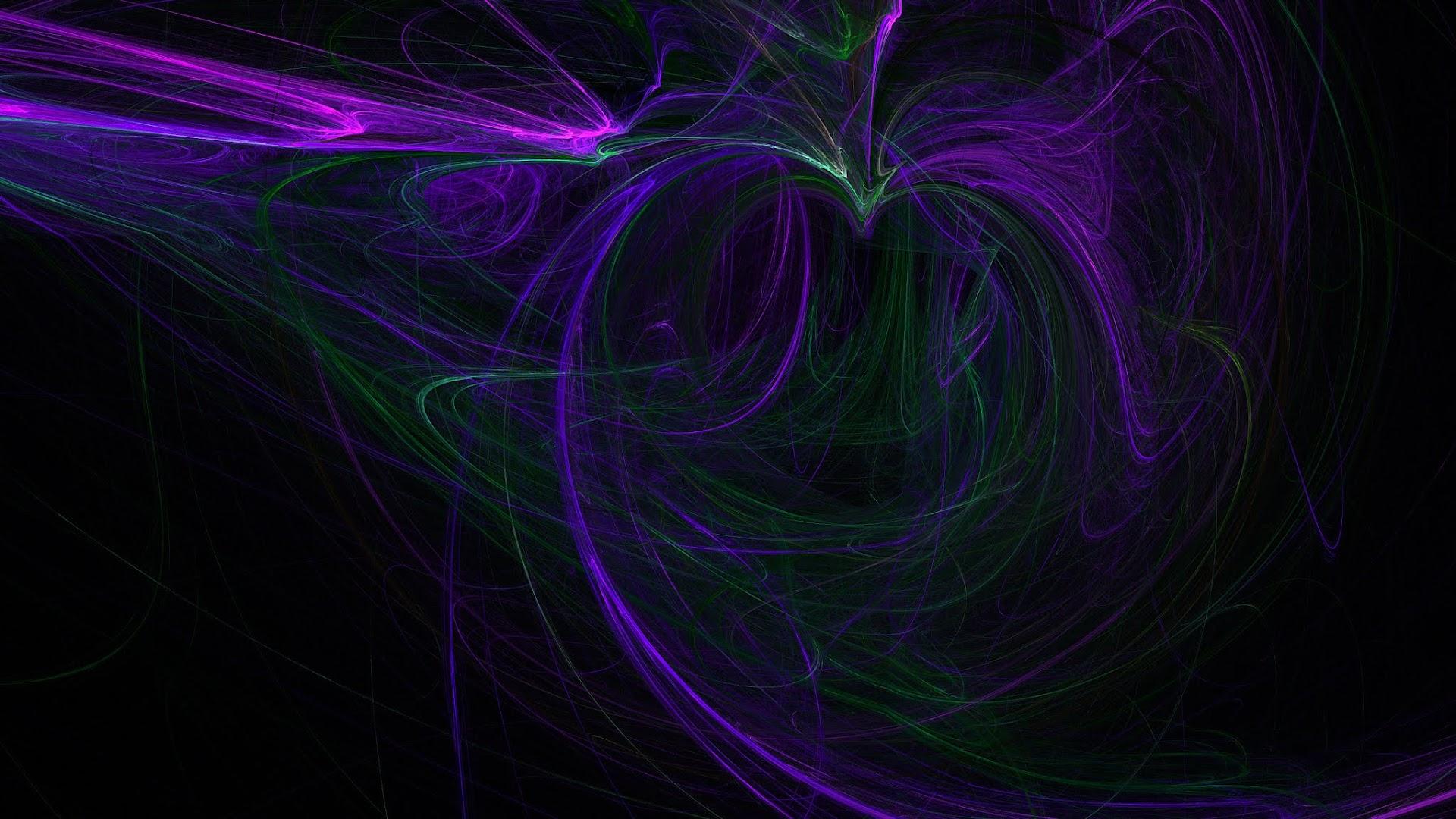 Attractive Purple Aurora Background on dark black
