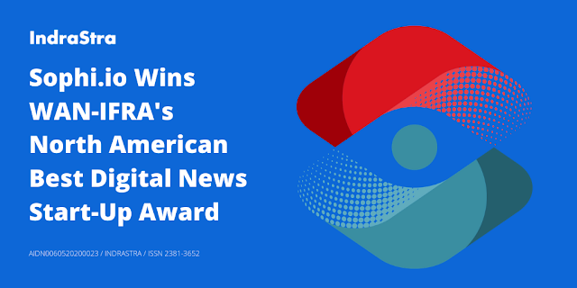 Sophi.io Wins WAN-IFRA's North American Best Digital News Start-Up Award