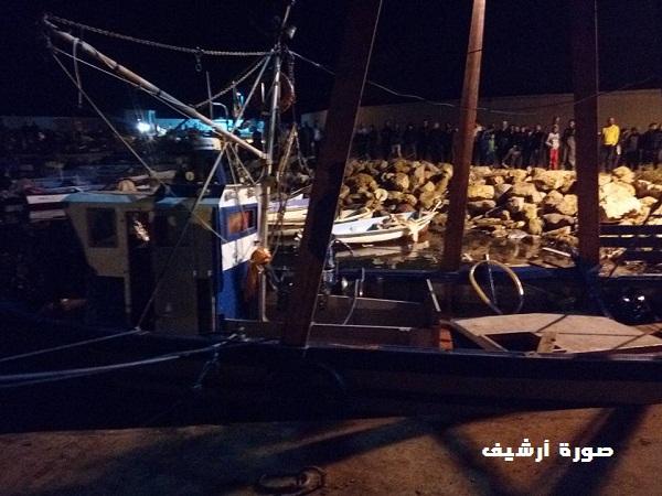 """العثور علي قارب صيد سمك """"السبادون"""" المفقود منذ الجمعة الماضية"""
