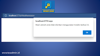 error Dapodik 2022 localhost 5774 says