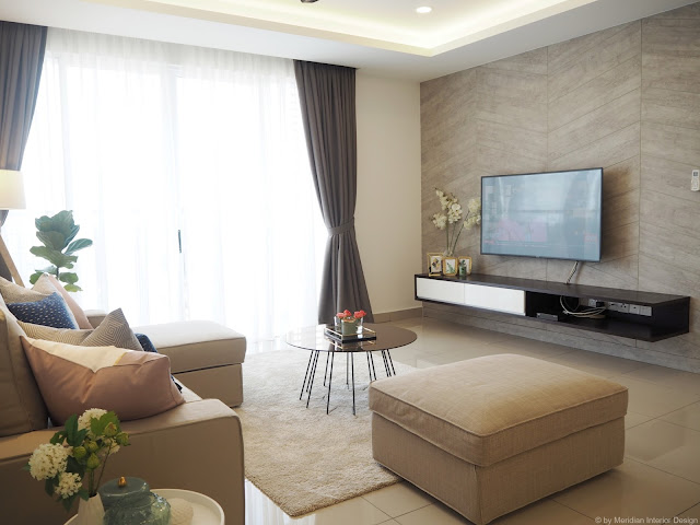 Modern Living Room - Meridian Interior Design