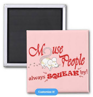 """""""Mouse People"""" mouse Magnet, Red Text"""
