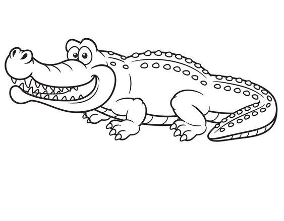 Hình tô màu con cá sấu