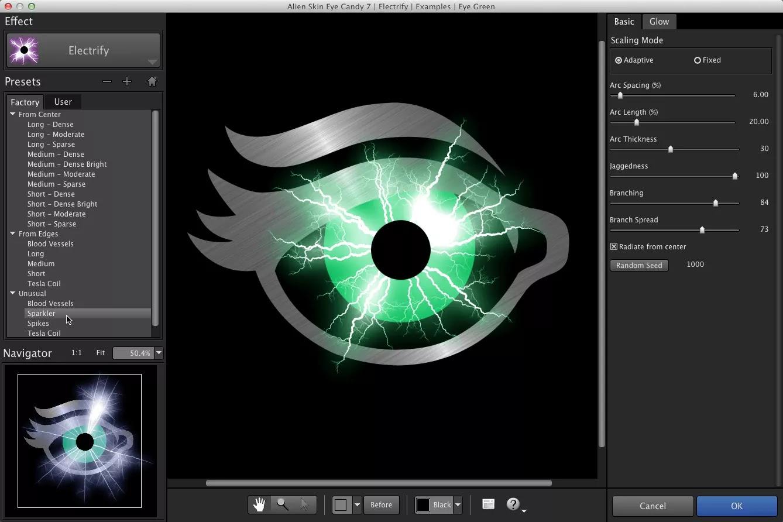 تحميل برنامج Alien Skin Eye Candy 7.2.3.143 لإنشاء تأثيرات مفصلة وواقعية بشكل جميل
