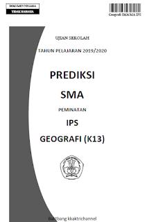 Soal Prediksi Ujian Sekolah (US) Geografi SMA tahun 2020