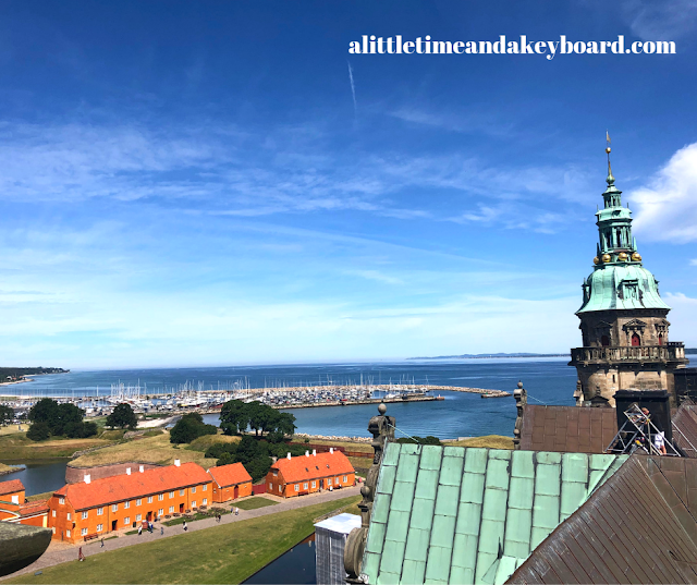 Views of the spires of Kronborg and the Sound from above are spectacular!
