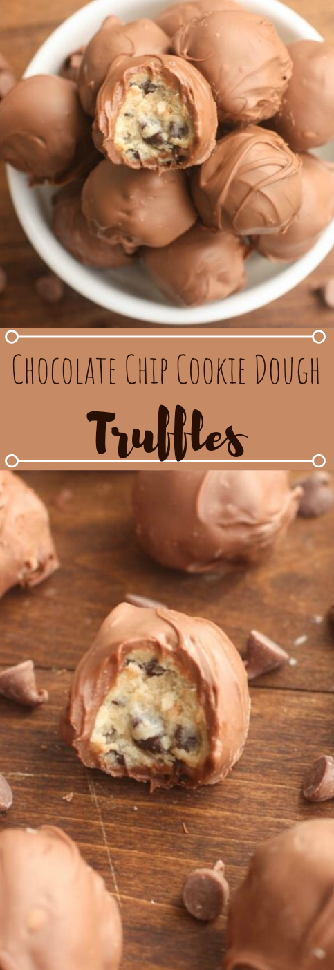 CHOCOLATE CHIP COOKIE DOUGH TRUFFLES #chocolate #desserts #healthydiet #cookies #paleo