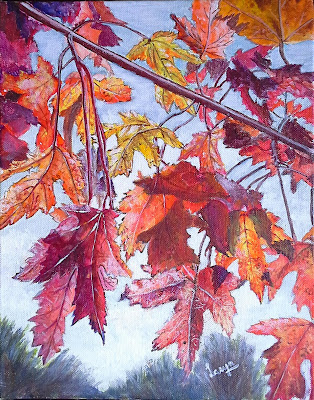 Fall colours - painting by Lasya Upadhyaya (part of her portfolio on www.indiaart.com)