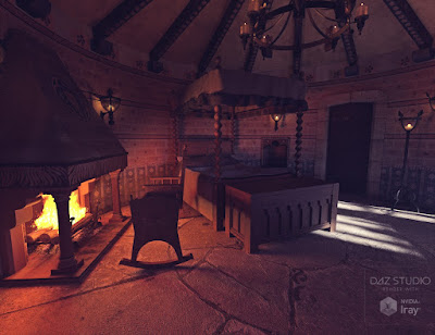 Medieval Tower Bedroom